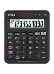 Casio 10-Digit Basic Calculator, MJ-100D Plus, Black