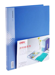 Deli A4 Sheet Display Book, 30 Pieces, Blue
