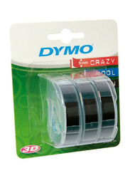 Dymo 3D Embossing Label Tapes Set, 3 Pieces, Black
