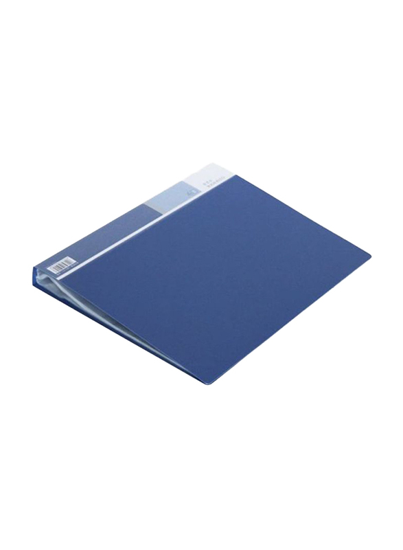 Deli Display Book with Antistatic Pocket, Blue/Grey/White