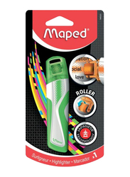 Maped Roller Highlighter Pen with Decor, MD-746323, Green