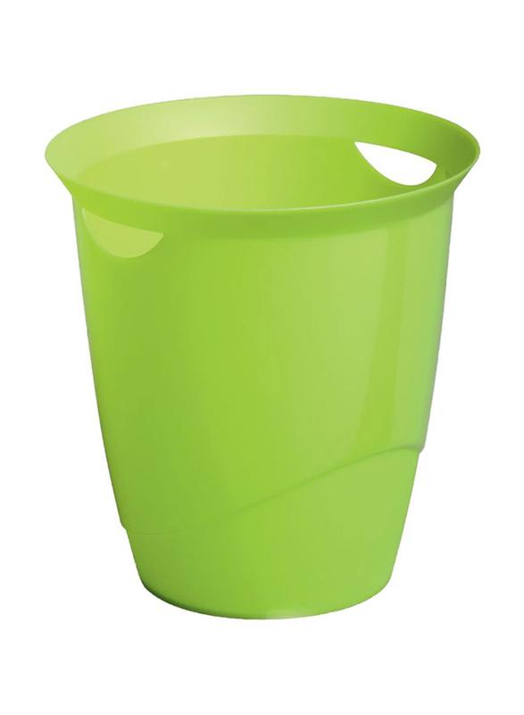 Durable Waste Bin Basket with Handy Handle, Green