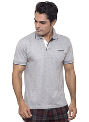 Santhome Tropikana DryNCool Polo Shirt for Men, Small, Grey