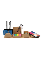 Eco-Neutral Eco-friendly Desk Cube with Wireless Charging, Brown