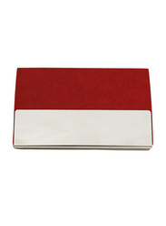 Giftology Polyurethane Card & ID Case Unisex, Red/Silver