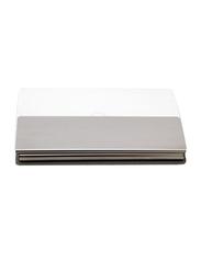 Giftology Polyurethane Card & ID Case Unisex, White/Silver