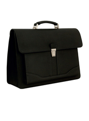 Santhome 15.6-inch Briefcase Laptop Bag, Black