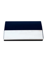 Giftology Polyurethane Card & ID Case Unisex, Navy Blue/Silver