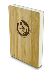 Eco-Neutral Eco-Friendly Natural Bamboo Hardcover Notebook, 128 Sheets, 100 GSM, A5 Size