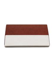 Giftology Polyurethane Card & ID Case Unisex, Brown/Silver