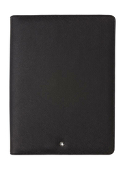 Swiss Peak Italian PU Cover Zipper Portfolio Folder, A5 Size, Black