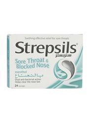 Strepsils Menthol Lozenges, 24 Pieces