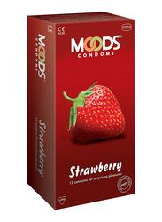 Moods Strawberry Condom, 12 Pieces