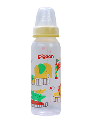 Pigeon BPA Free Peristaltic Nursing Bottle, RPP Zoo, 240ml, Clear