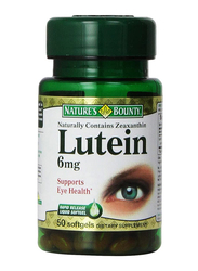 Nature's Bounty Lutein Dietary Supplement, 6mg, 50 Softgels