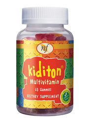 Natural Fervor Kiditon Multivitamin Dietary Supplement, 60 Gummies