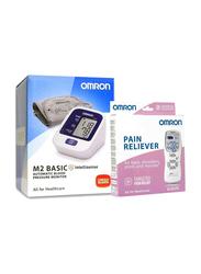 Omron M2 Basic Blood Pressure Monitor & Pain Reliever E2, White