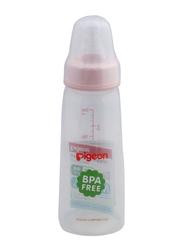 Pigeon Anti-Colic Standard Neck Nursing Feeding Bottle with Transparent Cap, 200ml, Pink/Clear