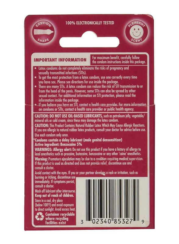 Durex Performax Intense Condom, 10 Pieces