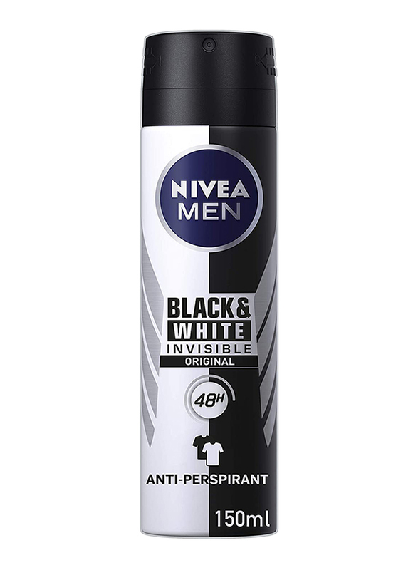 Nivea Men Black And White Invisible Deodorant Spray, 150ml