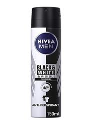 Nivea Men Black And White Invisible Deodorant Spray, 150ml