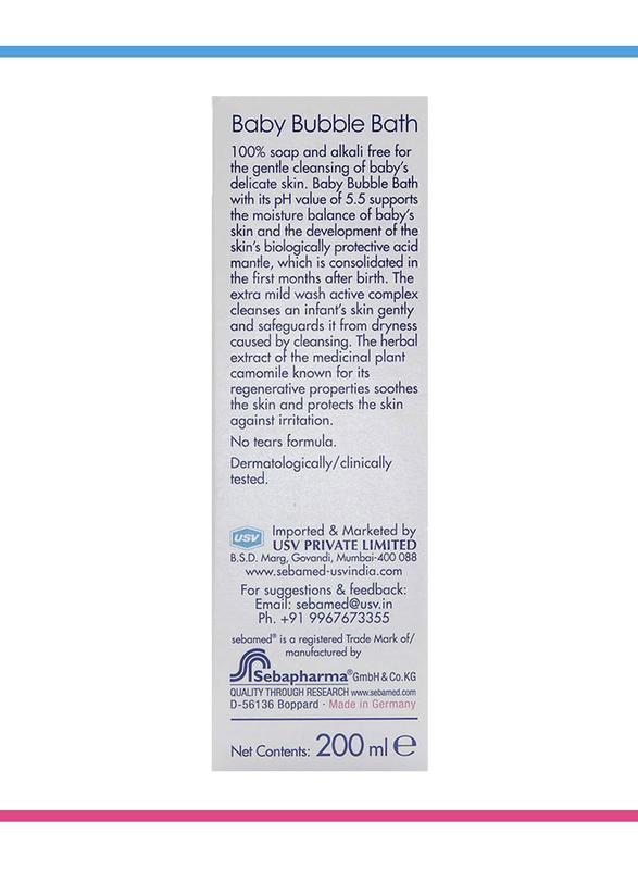 Sebamed 200ml Baby Bubble Bath for Kids