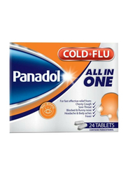 GSK Panadol Cold + Flu All-in-One, 24 Tablets