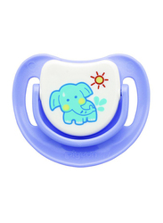 Pigeon Anti-Colic Silicone Step-2 Pacifier, 5-8 Months, Elephant, Purple