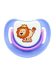 Pigeon Anti-Colic Silicone Step-1 Pacifier, 0-5 Months, Lion, Purple