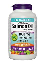 Webber Naturals Wild Alaskan Salmon & Fish Oil, 1000mg, 180 Softgels