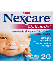 3M Nexcare Opticlude Orthoptic Eye Patch, Junior, 20 Strips