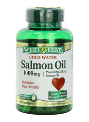 Nature's Bounty Cold Water Salmon Oil Dietary Supplement, 1000mg, 120 Softgels