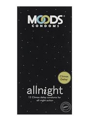 Moods Allnight Climax Delay Condom, 12 Pieces