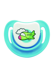Pigeon Anti-Colic Silicone Step-2 Pacifier, 5-8 Months, Aeroplane, Blue