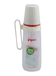 Pigeon Anti-Colic Standard Neck Nursing Feeding Bottle with Handle, 240ml, White/Clear