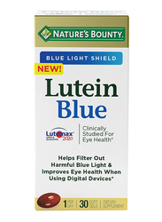 Nature's Bounty Lutein Blue Dietary Supplement, 20mg, 30 Softgels