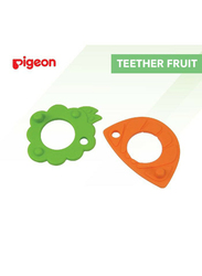 Pigeon Anti-Colic Fruit Shaped Teether, 2 Pieces, Green/Orange