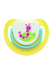 Pigeon Anti-Colic Silicone Step-2 Pacifier, 5-8 Months, Caterpillar, Yellow