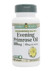 Nature's Bounty Evening Primrose Oil Herbal Supplement, 500mg, 100 Softgels