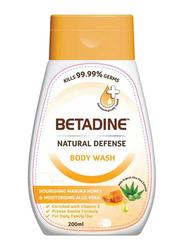 Betadine Natural Defense Body Wash, 200ml