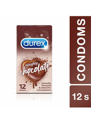 Durex Naughty Chocolate Condom, 12 Pieces