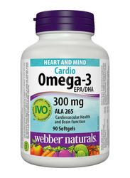 Webber Naturals Omega 3 Cardio EPA/DHA, 300mg, 90 Softgels