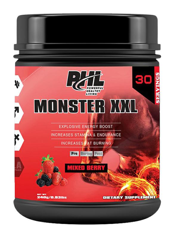 PHL Monster XXL 30 Servings Powder, 240g, Mixed Berry