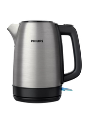 Philips 1.7L Daily Collection Electric Stainless Steel Kettle, 1850-2200W, HD9350, Silver/Black