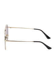 TFL Eyewear Polarized UV Protection Aviator Full Rim Pink Sunglasses for Women, Gold Lens, 6198-Pink, 52/15/135