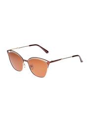 TFL Eyewear Polarized Square Full Rim Black Sunglasses for Women, Gold Lens, DFP003-C8-90-R49, 56/17/138