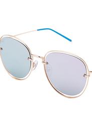 TFL Eyewear Polarized Oval Full Rim Black Sunglasses for Women, Black Lens, DDN284-C1-PB06, 55/17/142