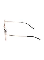 TFL Eyewear Polarized Aviator Full Rim Black Sunglasses for Women, Black Lens, DDN284-C1-91, 55/17/142
