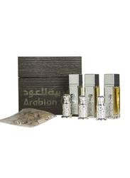 Arabian Oud 7-Piece Al Safwa Gift Set Unisex, 3 x Spray Perfumes, 3 x Oils, 1 x Oud