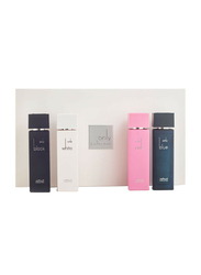 Arabian Oud 4-Piece Only Collection Prfume Set Unisex, White 100ml EDP, Black 100ml EDP, Blue 100ml EDP, Pink 100ml EDP